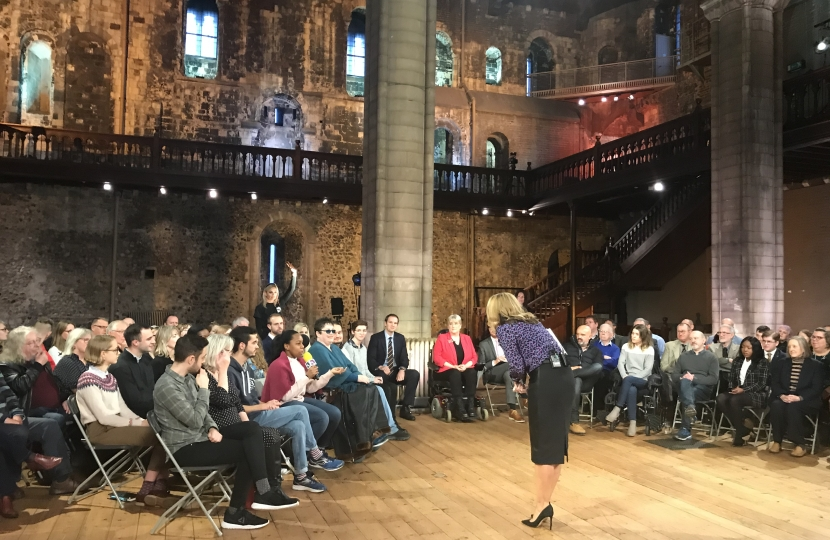 BBC Victoria Derbyshire Audience Debate Norwich Castle