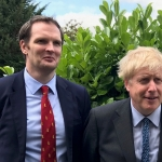 Dr Dan Poulter with Prime Minister Boris Johnson